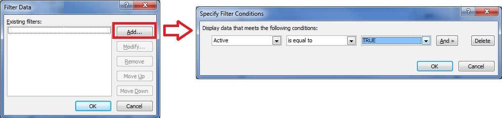 Add Filter Criteria